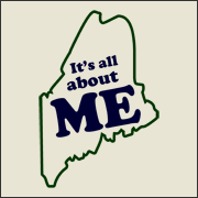 It's all about Me (Maine) Funny State Map Geography T-Shirt