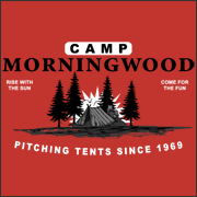 Camp Morningwood  funny t-shirt Pitching tents since 69