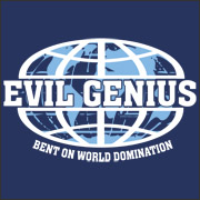 Evil Genius Bent On World Domination funny family guy t-shirt