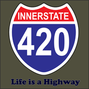 Innerstate 420 Life is a Highway stoner marijuana t-shirt