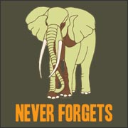 Never Forgets Funny t-shirt