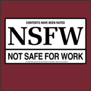 Rated NSFW Not Safe for Work Funny Geek  t-shirt